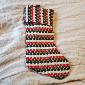 none Holiday - Retro Stocking- mid century modern pattern